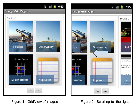 Horizontal Scrolling Pages of Images in Android | More Is ...