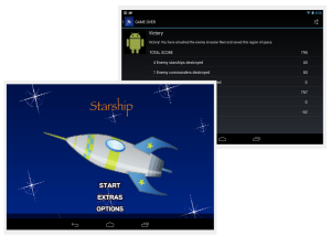 Screenshots for Starship app