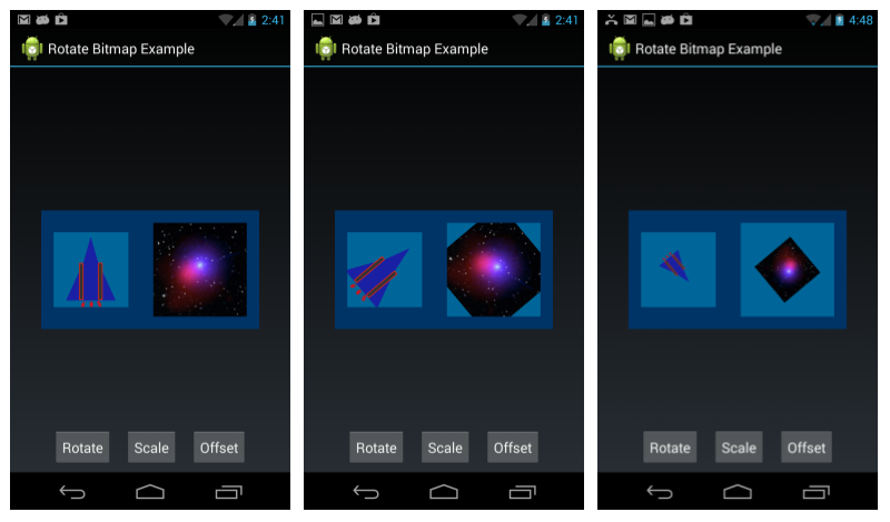 Resize in bitmap android how to studio