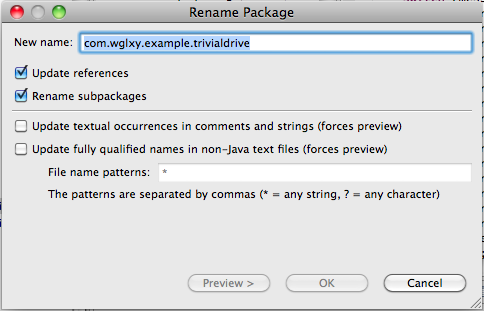 rename-package